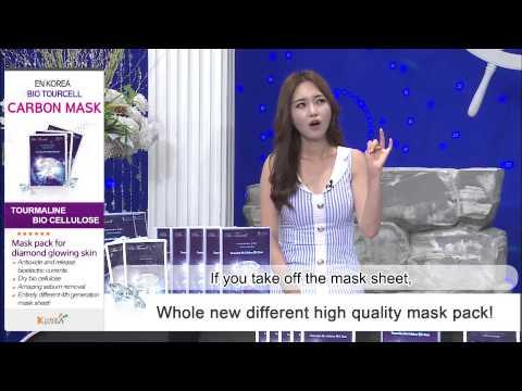 EN KOREA Bio Tourcell Carbon Mask 3ea