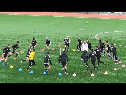 Man City Circle Warm Up