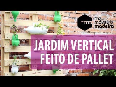 Jardim vertical feito de pallet