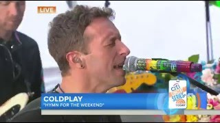 Coldplay - Hymn for the Weekend TODAY LIVE 2016 Video