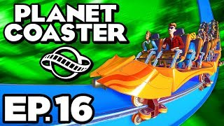 Planet Coaster Ep.16 - • BEAUTIFUL SCENERY DECORATIONS, NECK-BREAKING COASTER! (Gameplay Lets Play)
