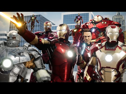 EVOLUTION of IRON MAN: Cinematic Comparison (2008-2019)