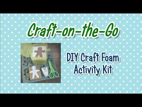DIY Colourful Craft Kit (Demo: EVA Foam Gingerbread Man)
