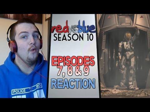Red vs. Blue Season 10 Episodes 7 - 9 Reaction
