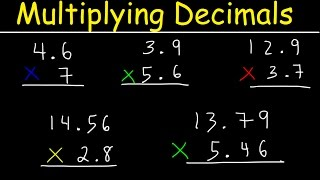 This math introduction video tutorial discusses the process of multiplying decimals that are in the tenths and hundredths place in columns.  It explains how to perform simple decimal multiplication easily.  This video tutorial contains plenty of examples and practice problems for you to work including when to add zeros and where to place the decimal point in your final answer.  This video is useful for kids in 4th grade and 3rd grade.