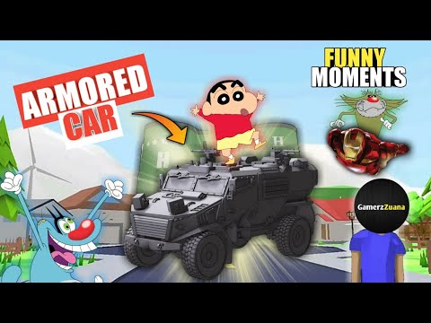 OGGY AND SHINCHAN STOLE ARMORED CAR FOR JACK | DUDE THEFT WARS | SASTI GTA 5 | GamerzZuana