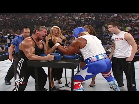 Arm Wrestling Match - Mr Macmahon Vs Mr America (Hulk Hogan) 720p HD Full Match