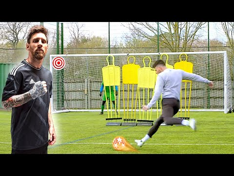 Lionel Messi 90th Minute Free Kick Challenge! ⏱⚽️💥