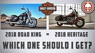 2. 2018 Harley-Davidson Road King vs Heritage - Which one should I get?