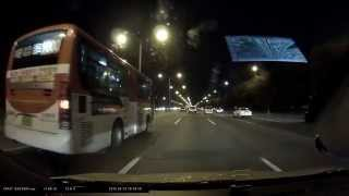 아이나비 QXD950 view 블랙박스 - 야간 전후방 영상