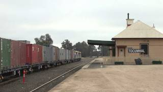 Deniliquin Australia  city photo : Australian Trains: POTA #9371 Deniliquin Rice train arrives at Tocumwal