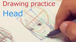 Drawing practice Head