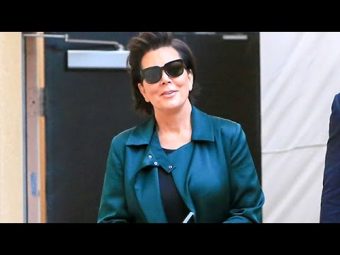 Kris Jenner Rocking A Beautiful Green Jacket At Rob's Party