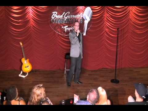 Michael J Herbert performing at Brad Garrett's Comedy Club