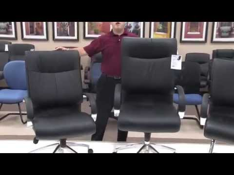 Video for Sharp Executive Black Leather Mid-Back Chair