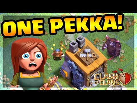 ONE SUPER PEKKA vs. BUILDER HALL! Clash of Clans | CoC | (видео)