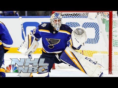 Jordan Binnington wins Save Streak competition  2020 NHL All-Star Skills  NBC Sports