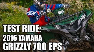 2. TEST RIDE: 2016 Yamaha Grizzly EPS 700