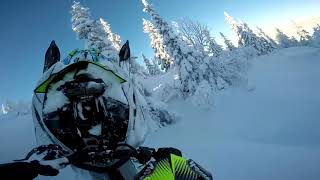 10. 2018 Arctic Cat Ascender Hardcore EVO - early powder days wheelies, thrills and spills