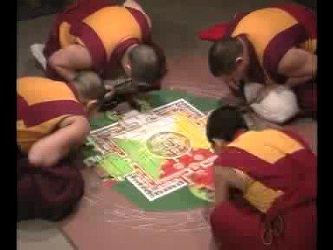 Still image from Tibetan Buddhist Monks: Wheel of Healing Mandala