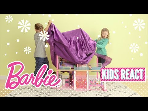 Kids React to the Barbie Dreamhouse | @Barbie