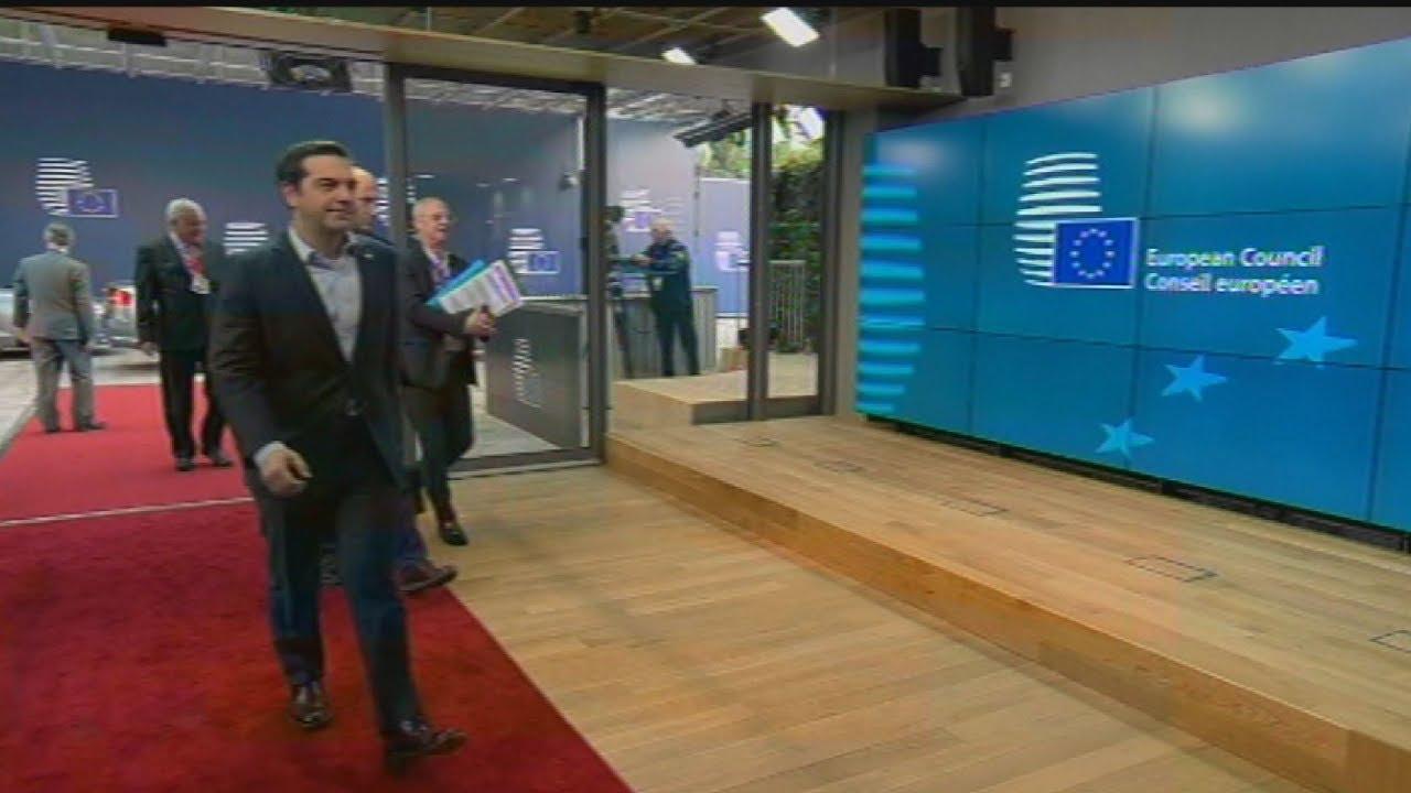 Ο Αλέξης Τσίπρας και ο Ν. Αναστασιάδης στη συνόδο κορυφής της ΕΕ
