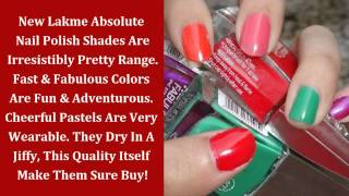 Cosmetic Products Review | New Lakme Absolute Nail Paint | Beauty, Fashion&Makeup