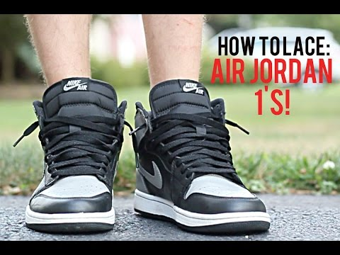 How To Lace Air Jordan 1's! + On Feet!