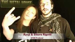 GYZE Ryoji(GYZE Guitarist) in Italy.meet with Ettore