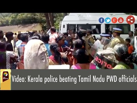 Video-Kerala-police-beating-Tamil-Nadu-PWD-officials