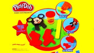 Play-Doh Disney Junior Mickey Mouse Clubhouse Stamp&Cut Toy Review Cookie Monster Eating Play Doh