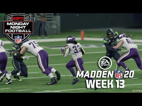 Madden NFL 20 GameDay | Week 13 - Minnesota Vikings vs Seattle Seahawks (12/2/2019)