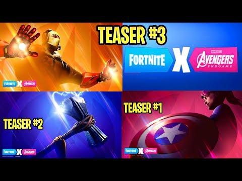 fortnite x avengers all 3 teasers iron man thor captain america - 3 teaser fortnite avengers