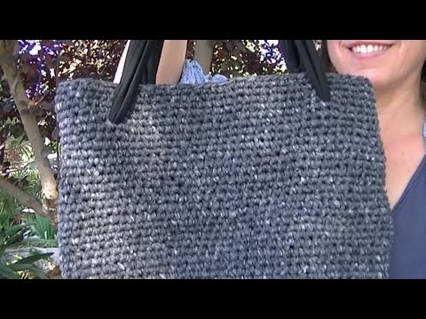 COMO HACER UN BOLSO FACIL DE CROCHET DE PUNTO BAJO EN GANCHILLO//single Crochet Stitch Bag