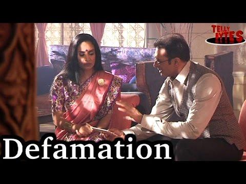 Who is behind Shardaa's defamation in Swabhimaan??