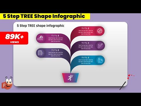 4.Create 5 Step TREE SHAPE Infographics/PowerPoint Presentation/Graphic Design/Free Template Mp3