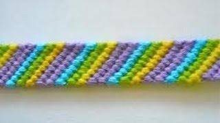 Friendship Bracelets for Beginners~Candy Stripe Bracelet - YouTube