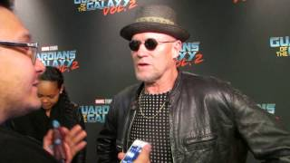 The Movie Elite chats with Michael Rooker on the red carpet for Guardians of the Galaxy Vol. 2 in Toronto.