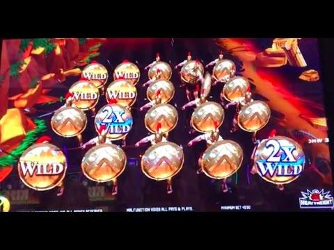 LEONIDAS 2 Live play and bonuses ~ CHILI GOLD ~ Lightning Link and more slot machine pokies!