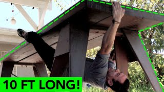 Climbing a 10 FOOT LONG Table || At Home Bouldering by  rockentry