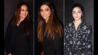 Deepika Padukone, Alia Bhatt, Sidharth Malhotra attend Secret Superstar screening