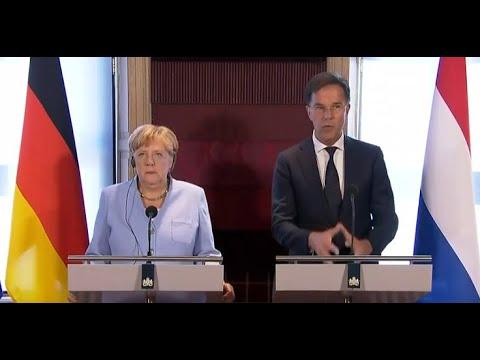 Klimawandel Angela Merkel amp Mark Rutte zum Ideenaustausch in Den Haag