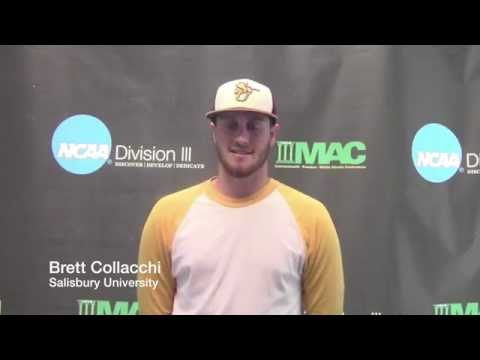 2015 NCAA DIII Baseball Mid-Atlantic Regional: Game 1 - Salisbury vs. Mitchell Interview