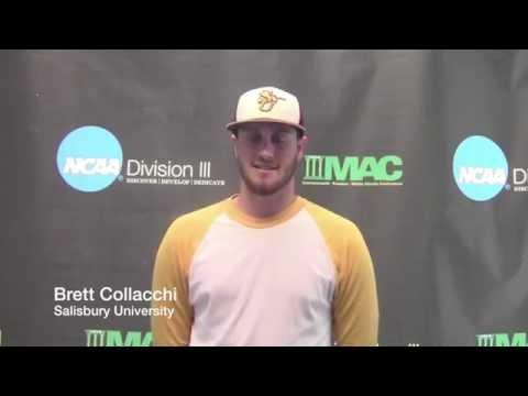 2015 NCAA DIII Baseball Mid-Atlantic Regional: Game 1 - Salisbury vs. Mitchell Interview