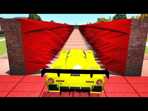 Spiked Closing Walls crashes - Beamng drive