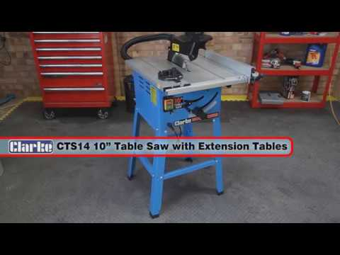 """Clarke CTS14 10"""" (250mm) Table Saw with Extension Tables"""