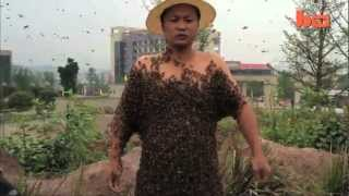Man Covers Himself In 330,000 Bees