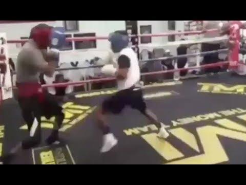 Floyd Mayweather Proves He Still Got It! KO's Sparring Partner (видео)