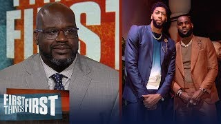 Video Shaq disagrees LeBron - AD are the best duo, talks state of the Lakers | NBA | FIRST THINGS FIRST MP3, 3GP, MP4, WEBM, AVI, FLV Juni 2019