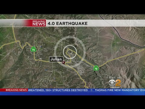 Magnitude-4.0 Earthquake Hits Julian